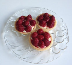 Raspberry Custard Tarts 2